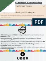 Joint Venture Between Volvo and Uber