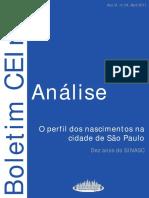Boletim CEInfo - Perfil Nascimentos São Paulo