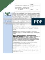 Actividad #4 Procedimiento Para La Identificación de Peligros de La Iecg.
