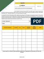 RG-01 Registro Entrega de EPP