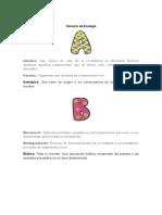 Glosario de Ecología