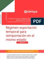 CAPÍTULO 14- Régimen Exportación Temporal Para Reimportación en El Mismo Estado