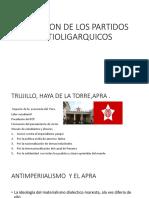 Aparicion de Los Partidos Antioligarquicos