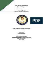 Econometric Report