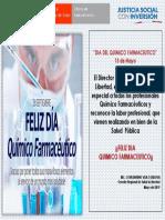 Tarjeta de Saludo Por El Dia Del Quimico Farmaceutico