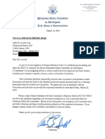 House Intel Committee Letters to Trumpworld Lawyers About Cohen Testimony