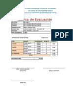 Rubrica de Evaluacion
