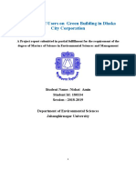 Perception of Users on Green Building in Dhaka City Corporation