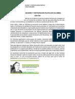 Movimiento de Mujeres y Participación Politica en Colombia