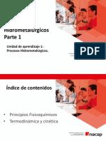 2. Procesos Hidrometalurgicos - Operatividad
