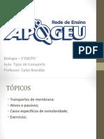 Tipos de Transporte - Bio 1 - 3EM