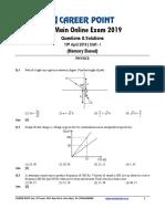 JEE Main 2019 Paper 1 April 10 Forenoon Physics