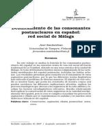 Debilitamiento de las consonantes postnucleares en español. Red social de Málaga. José Santisteban..pdf