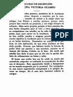 """Victoria Ocampo """"Mujeres en la academia"""""""