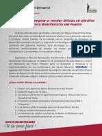 Operaciones en Divisas BBDP