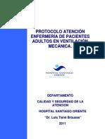 Protocolo Atencion Enf de Pacientes Adultos en Ventilacion Mecanica