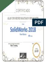 Certificado Alan - SolidWorks Básico