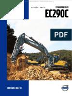 Catalogo Excavadora Hidraulica Ec290c Volvo Caracteristicas Beneficios Dimensiones Especificaciones Rangos Trabajo