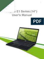 Acer Aspire E1 Manual