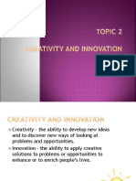 Topic 2 Entrepreneurship Creativity and Innovation