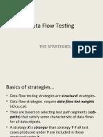 Data Flow Testing - Strategies