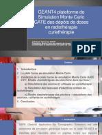Presentation GATE GEANT4