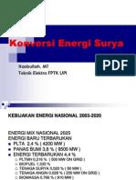 Konversi Energi Surya