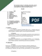 Silabo de Investigacion Tecnologica (Vacacional) 2018-2.docx