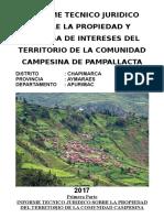 Informe Técnico Jurídico de CC. CC. de Pampallacta