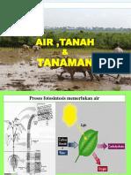 Hub.tanah, Air Dan Tanaman
