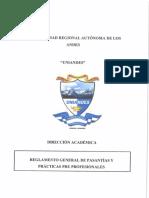 Reglamennto General de Pasantias y Practicas p