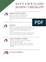 copy of awakened voices grading checklist