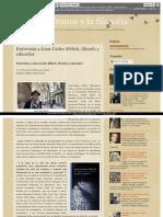 Entrevista a Joan Carles Mèlich Filósofo y Educador 692945