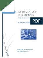 TRABAJO IMPEDIMETOS Y RECUSACIONES.docx