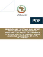 Declaration on the AU Border Programme