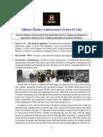Military History Anniversaries 0516 Thru 053119