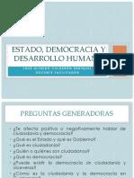 Estado, Democracia y Desarrollo Humano