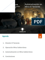 Gerente Desarrollo e Innovacion Division El Teniente