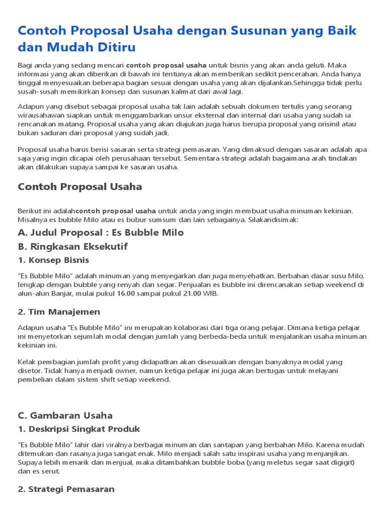 Contoh Proposal Usaha 1 Docx