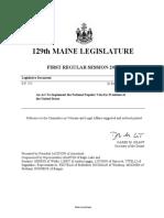 Maine 129 - SP 252 Item 1