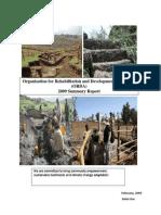 ORDA 2009 Annual Summary Report