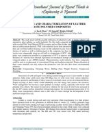 Preparation and Characterization of Leather Waste Polymer Composites