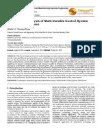 Analisis Kinerja Sistem Kontrol Multivariabel Berbasis Data Driven