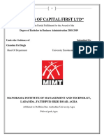 "A minor project report on ""GOALS OF CAPITAL FIRST LTD."""