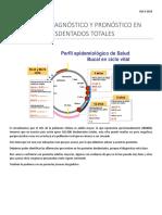 Examen, Diagnostico y Pronostico en Desdentados Totales