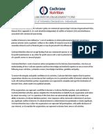 Conflict vhbfdgrfof Interests Declaration