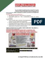Carta de Presentacion de Persialuminio PDF