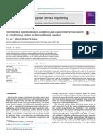 Experimental Investigation on Solid Desiccant–Vapor Compression Hybrid