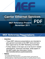 Carrier Ethernet Services Overview Reference Presentation R03 2011-11-15