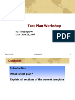 Test Plan Workshop